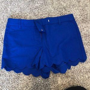 J CREW Scalloped Shorts NWOT Size 8